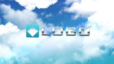 Clouds Logo Reveal - Elegant Sky Zoom Out Light Animation Logo Sting Intro After Effects Project