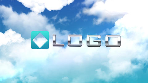 Clouds Logo Reveal - Elegant Sky Zoom Out Light Animation Logo Sting Intro After Effects Template