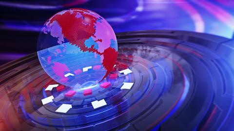 World News Background Looped 5 Animation