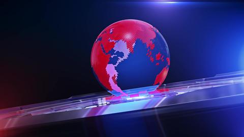 World News Background Looped 8 Animation