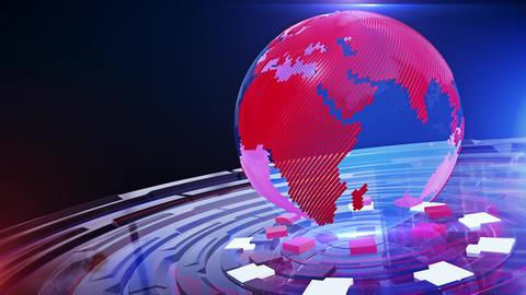 World News Background Looped 22 Animation