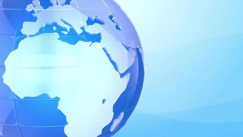 3D World News Background Loop Animation