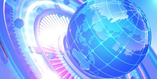 News background - World Map 2 Animation