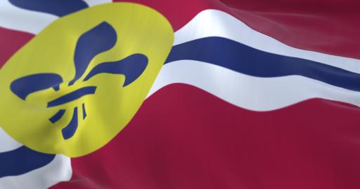 Saint Louis city flag, Missouri in USA or United States of America - loop Animation