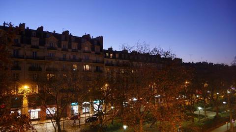 (4K) morning of Paris, time-lapse Live Action