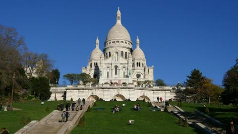 Sacre Coeur in Paris Footage