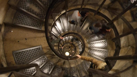 caracole of Arc de Triomphe Footage