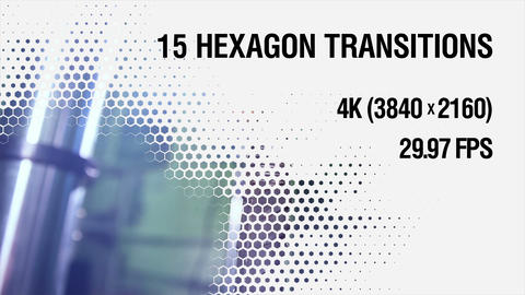 9 Hexagon Transitions Animation