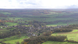 (4K) View from the hill of Vezelay,one of the most beautiful village in France Footage
