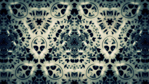 Cogwheels Kaleidoscope Abstract Loop Background Animación