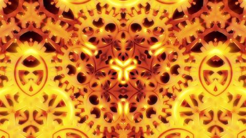 Cogwheels Kaleidoscope Abstract Loop Background Animation
