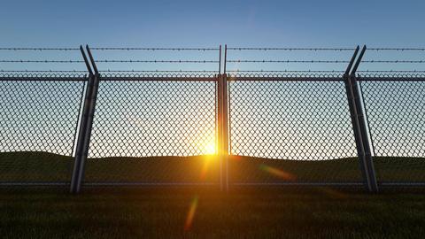 3D background Boundary Fence Sunset3 Animation