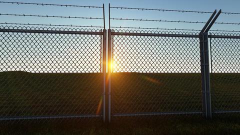 3D background Boundary Fence Sunset 1 Animation