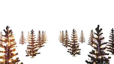 Christmas tree illumination loop animation background Animation