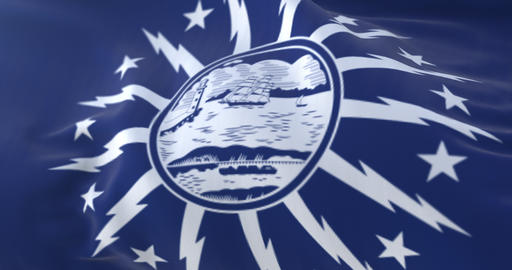 Buffalo city flag, city of New York state, United States of America - loop Animation