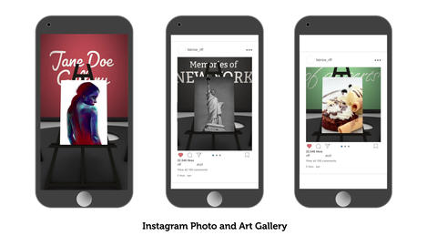 Photo and Art Gallery for instagram and facebook After Effects Template