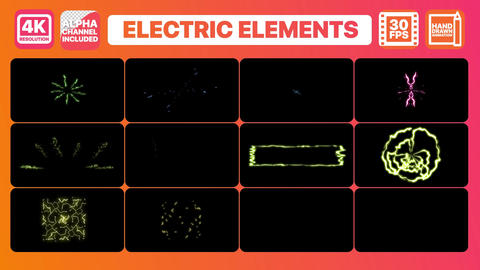 Electricity Elements And Titles Motion Graphics Template