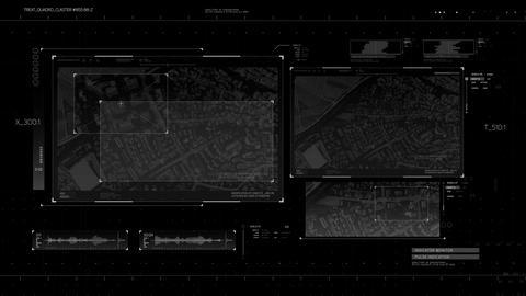 Complex futuristik HUD display Animation