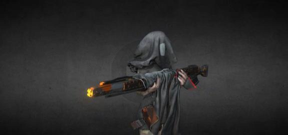 Sniper sci fi 3D Model