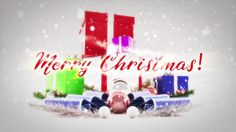 Merry Christmas Titles Motion Graphics Template