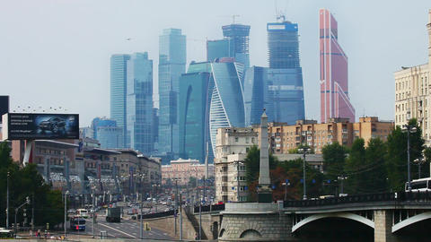 Сityscapes and city life and buildings of Moscow Footage