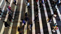 Taipei, Taiwan - Circa April 2011 - Taipei street people walking Footage