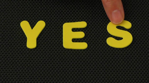 Woman hand writes the word YES Footage