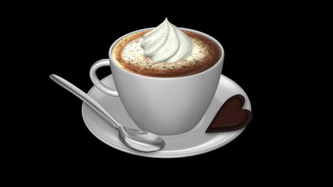 Coffee Weiner Melange - Isolated Cup Animation
