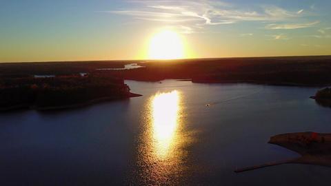 Sunset Of Lake Footage