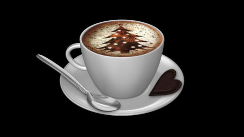 Coffee Xmas - Isolated Cup Animation