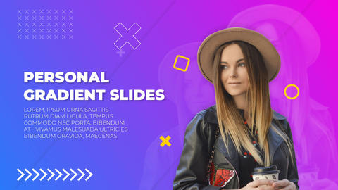 Personal Gradient Slides After Effects Template