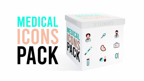 Medical Icons Pack Apple Motion Template