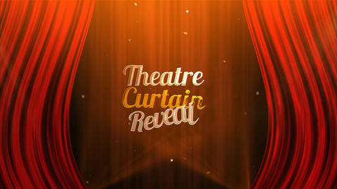 Theatre Curtain Reveal After Effects Template