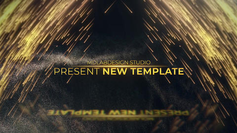 Golden Premium Titles Apple Motion Template