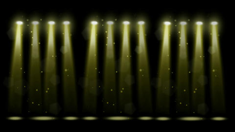 Decorative stage lights motion graphics with night background Animation