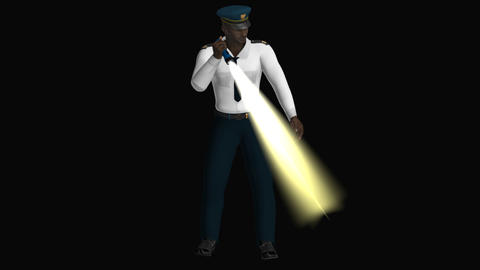 Police Investigates The Territory ,transparent Background Animation
