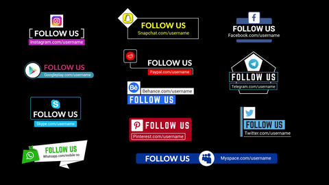 Social Media Lower Thirds Pack After Effects Template