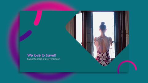 Color Travel Slideshow Apple Motion Template