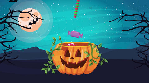 Happy halloween animated scene with 4k animation 7 Live Action
