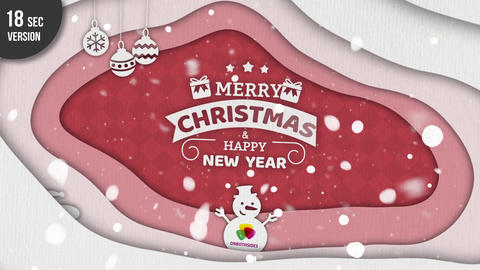 Christmas Cut Out After Effects Template