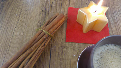 coffee cinnamon and candle