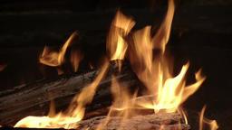 Fire in a celebration bowl Footage