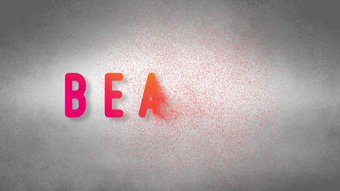 Beauty headband. Text from sand. With black background Stock Video Footage