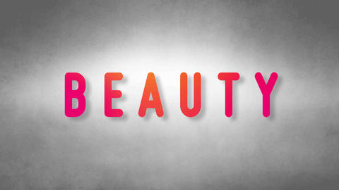 Beauty headband. Text from sand. With black background Animation