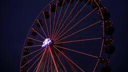 The big dipper on the Christmas fair Schwerin Footage