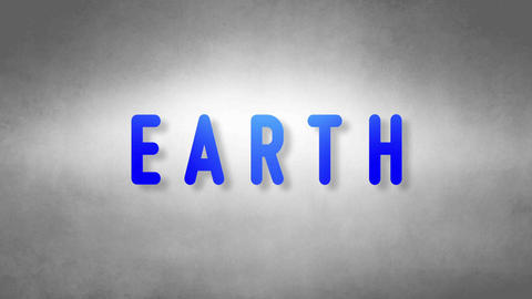 Earth headband. Text from sand. With black background Animation