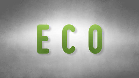 Eco headband. Text from sand. With black background Animation