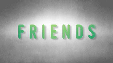 Friends headband. Text from sand. With black background Animation