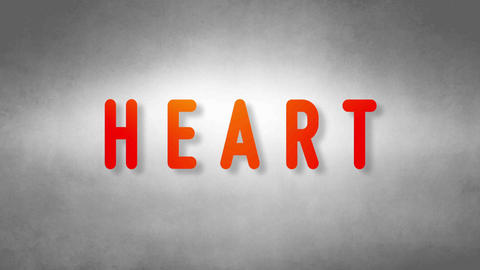 Heart headband. Text from sand. With black background Animation