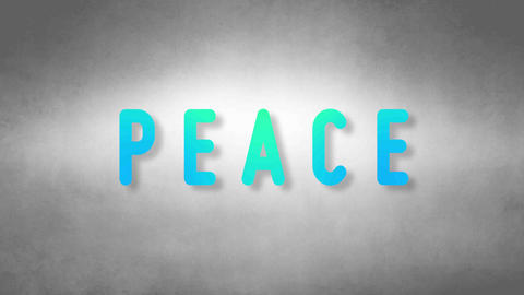 Peace headband. Text from sand. With black background Animation